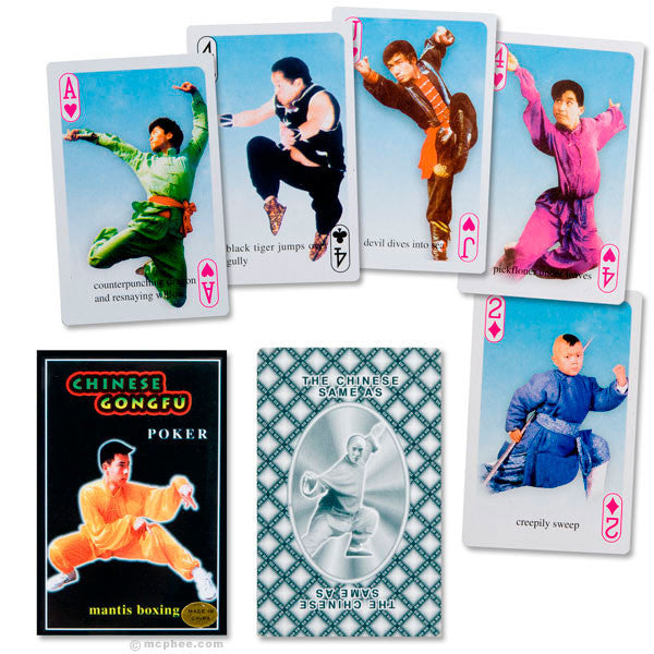 Chinese Gong Fu Playing Cards-Archie McPhee