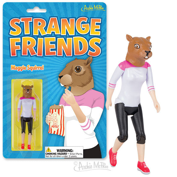Strange Friends® Maggie Squirrel Action Figure-Archie McPhee