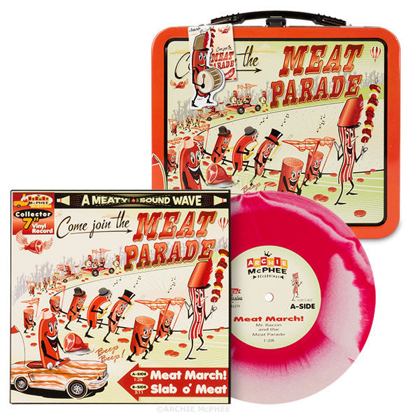 Meat Parade Vinyl Single and Lunchbox Combo - Archie McPhee - 1