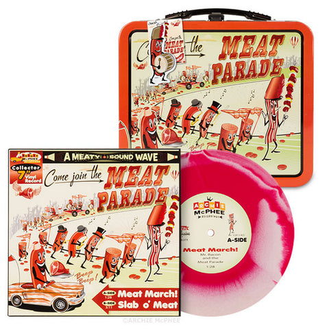 Meat Parade Vinyl Single and Lunchbox Combo
