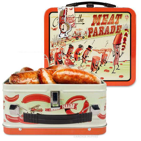 Meat Parade Vinyl Single and Lunchbox Combo - Archie McPhee - 4