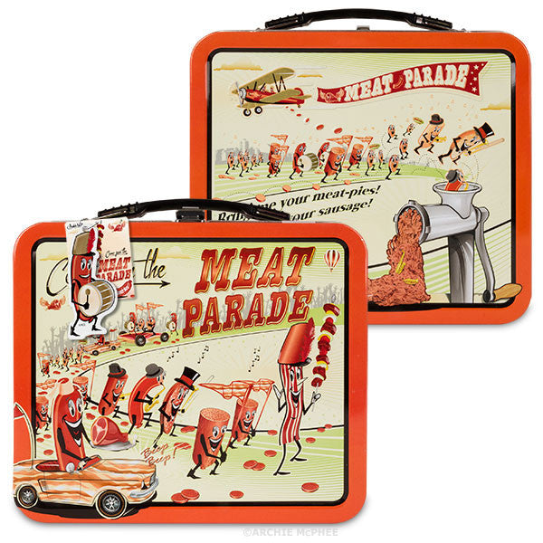 Meat Parade Vinyl Single and Lunchbox Combo - Archie McPhee - 2