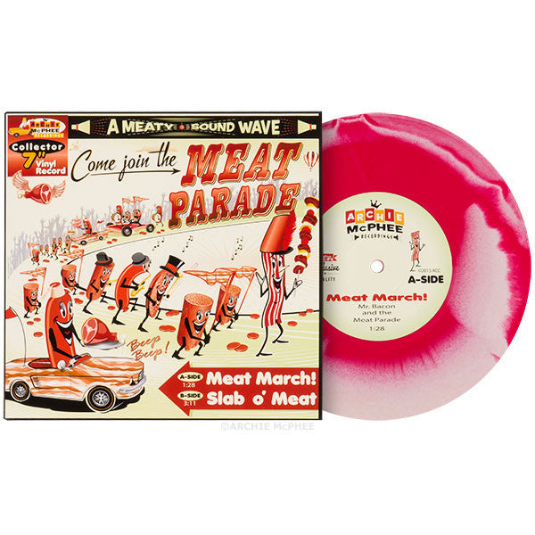 Meat Parade Vinyl Single and Lunchbox Combo - Archie McPhee - 3