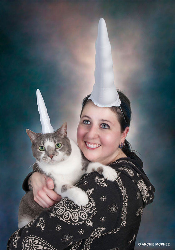Inflatable Unicorn Horn for Cats - Archie McPhee - 3