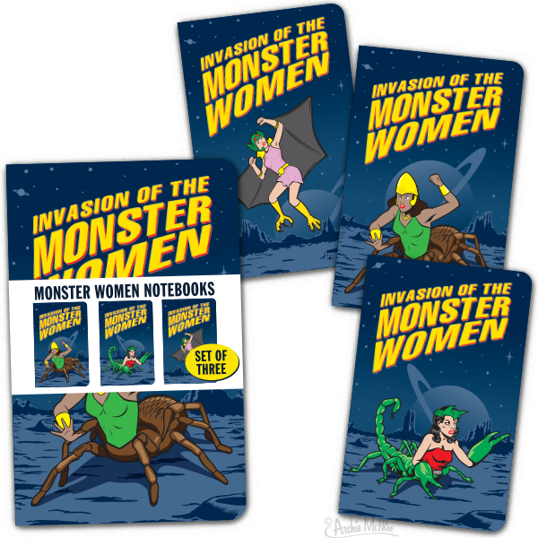 Monster Women Notebooks
