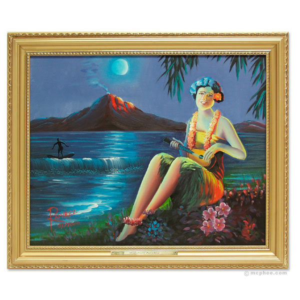 Moonlight Paradise Oil Painting-Archie McPhee