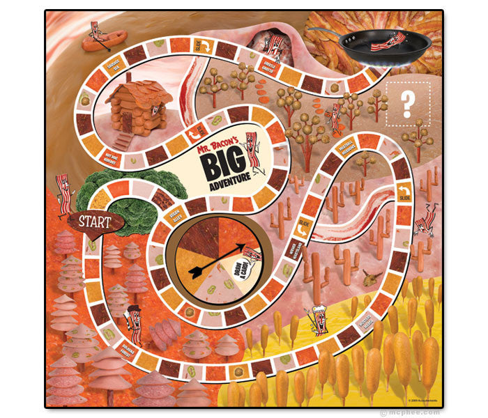 Mr. Bacon's Big Adventure Board Game-Archie McPhee