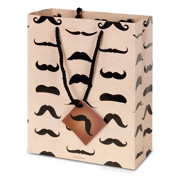 Mustache Gift Bag-Archie McPhee