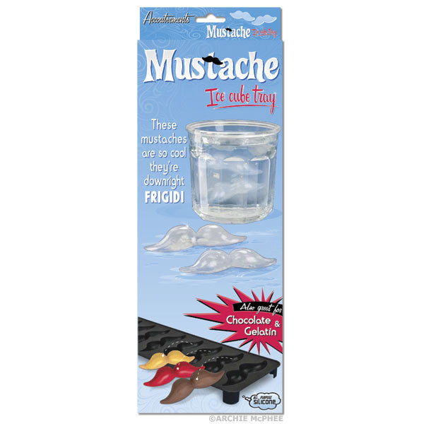 Mustache Ice Cube Tray-Archie McPhee