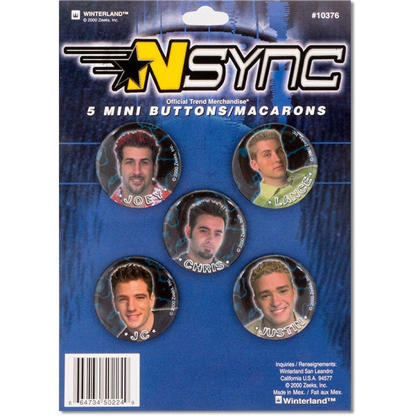 NSYNC Buttons-Archie McPhee