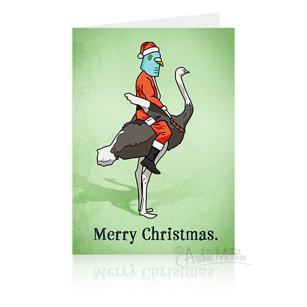 Christmas Ostrich Card-Archie McPhee