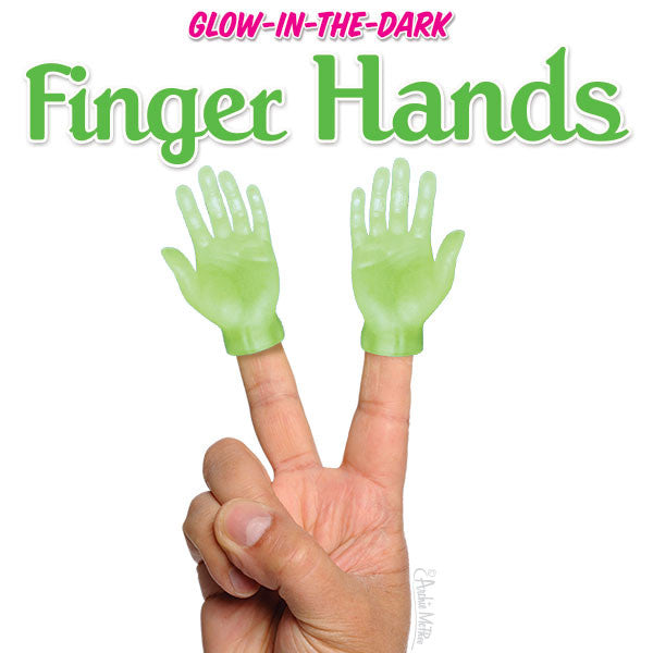 Glow-in-the-Dark Finger Hands-Archie McPhee