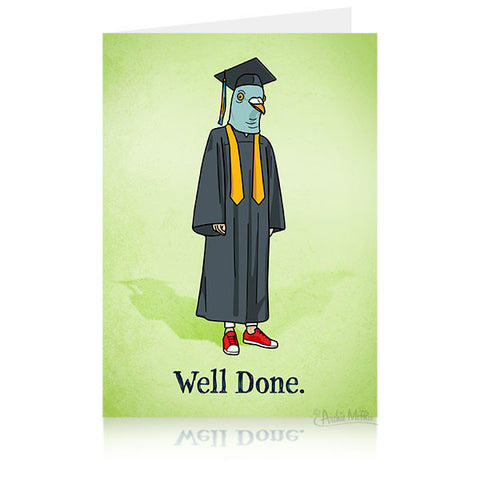Pigeon Graduation Card