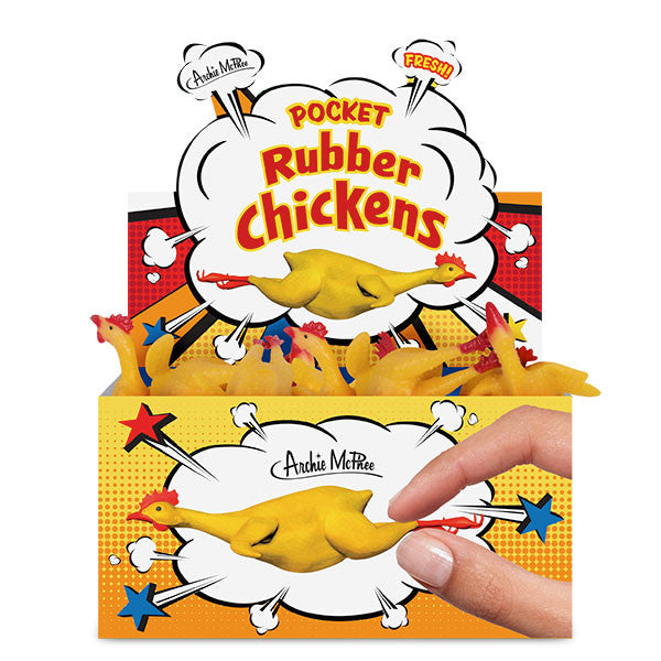 Pocket Rubber Chickens - Bulk Box-Archie McPhee