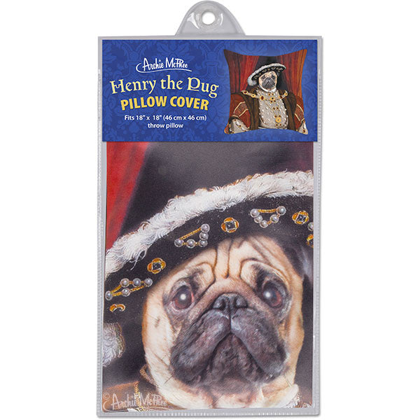 Henry the Pug Pillow Cover-Archie McPhee