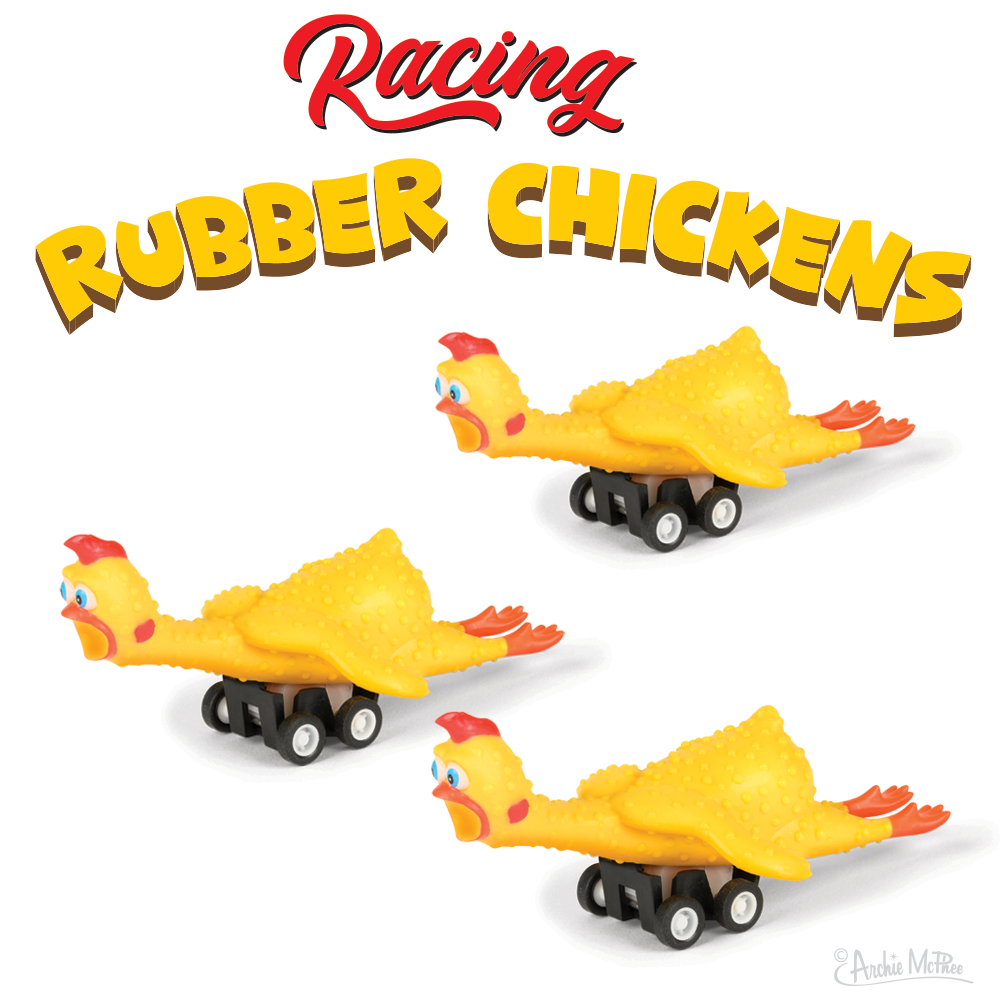 Racing Rubber Chickens Bulk Box