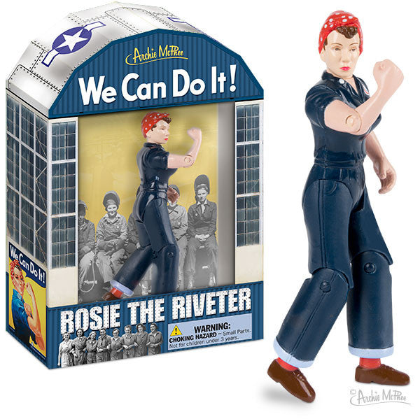 Rosie The Riveter Action Figure Archie McPhee Amp Co