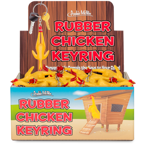 Rubber Chicken Keyrings - Bulk Box