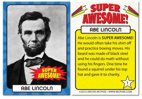 Super Awesome Trading Cards-Archie McPhee