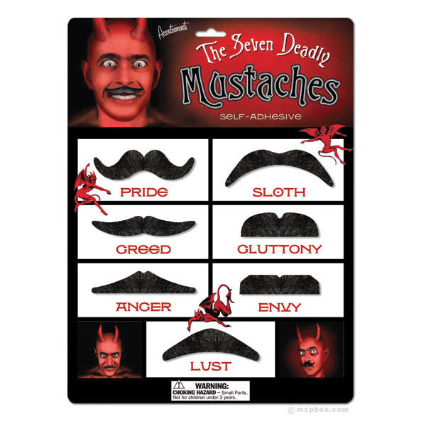 Seven Deadly Mustaches-Archie McPhee