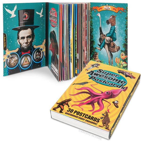 Super Awesome Postcards Book-Archie McPhee