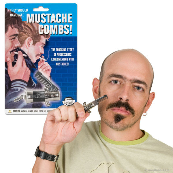 Switchblade Mustache Comb-Archie McPhee