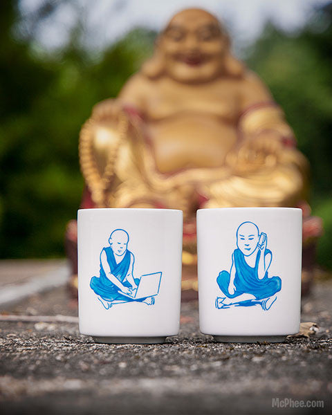 Tech Monks Teacups-Archie McPhee
