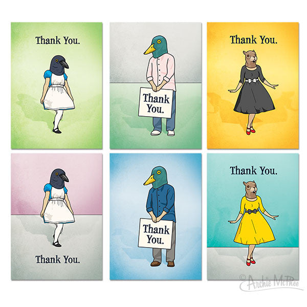 Thank You Cards Boxed Set - Archie McPhee - 2