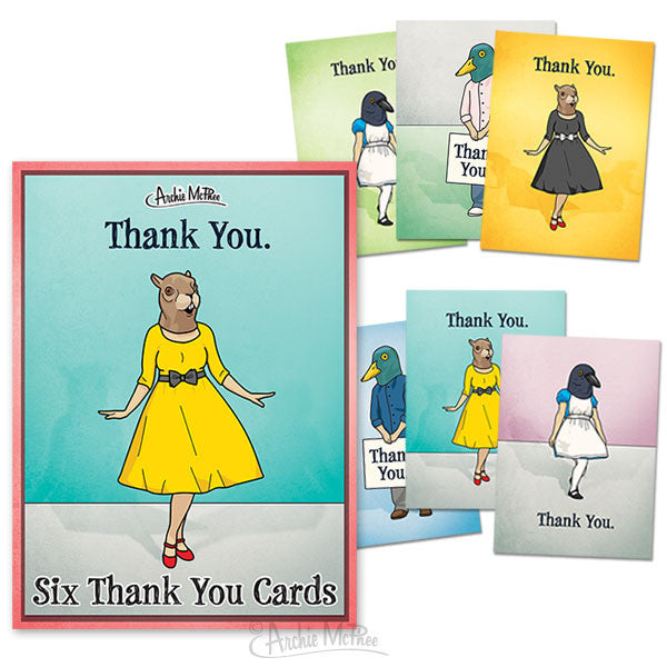 Thank You Cards Boxed Set-Archie McPhee