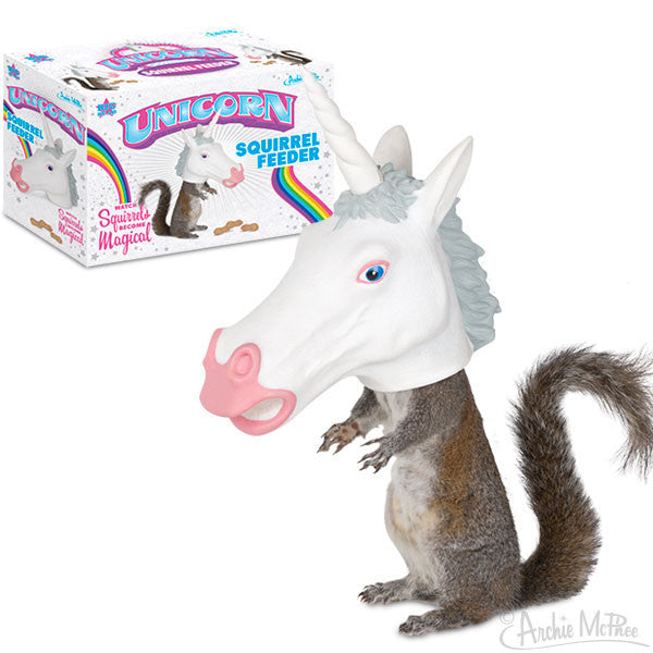 Hanukkah Greeting Cards >> Unicorn Squirrel Feeder - Archie McPhee & Co.