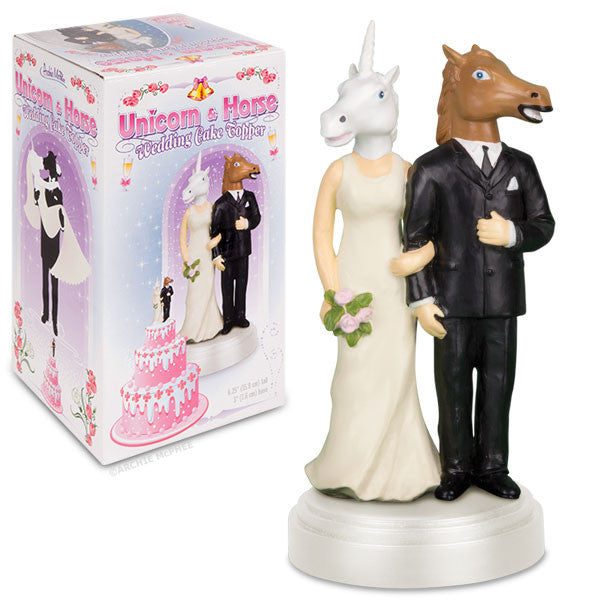 Unicorn And Horse Wedding Cake Topper Archie Mcphee Amp Co