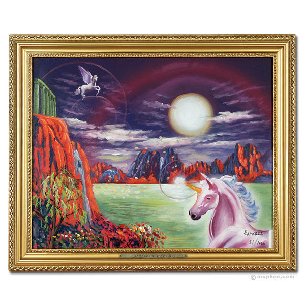 Unicorn Dreams Oil Painting-Archie McPhee