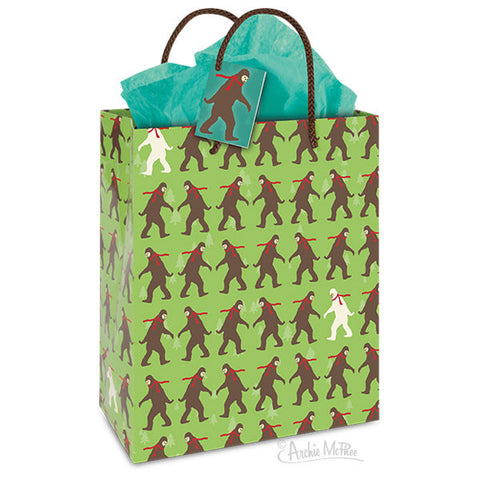 Winter Bigfoot Gift Bag