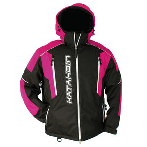Katahdin Mission Snowmobile Jacket Womens Black/Pink