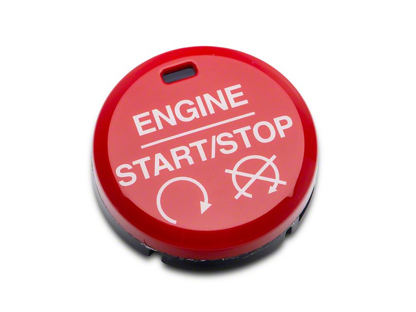 Ford Performance GT350/GT350R Style Red Push Start/Stop Button