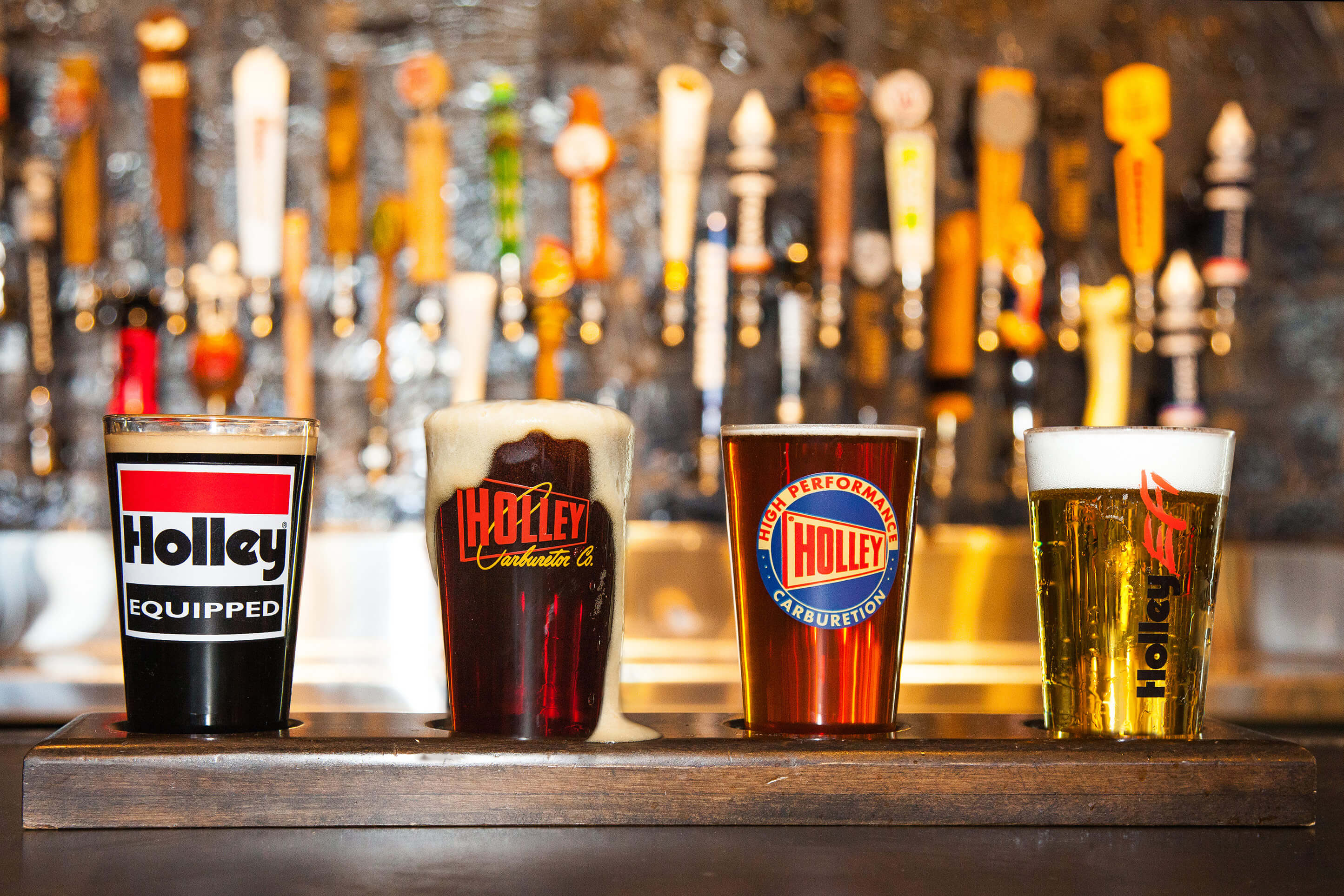 HOLLEY 16OZ  LOGO PUB GLASS ASSORTMENT - 4 PACK (SERIES 1)