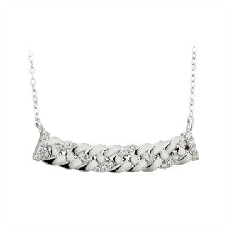 STERLING SILVER CZ CELTIC KNOT NECKLET