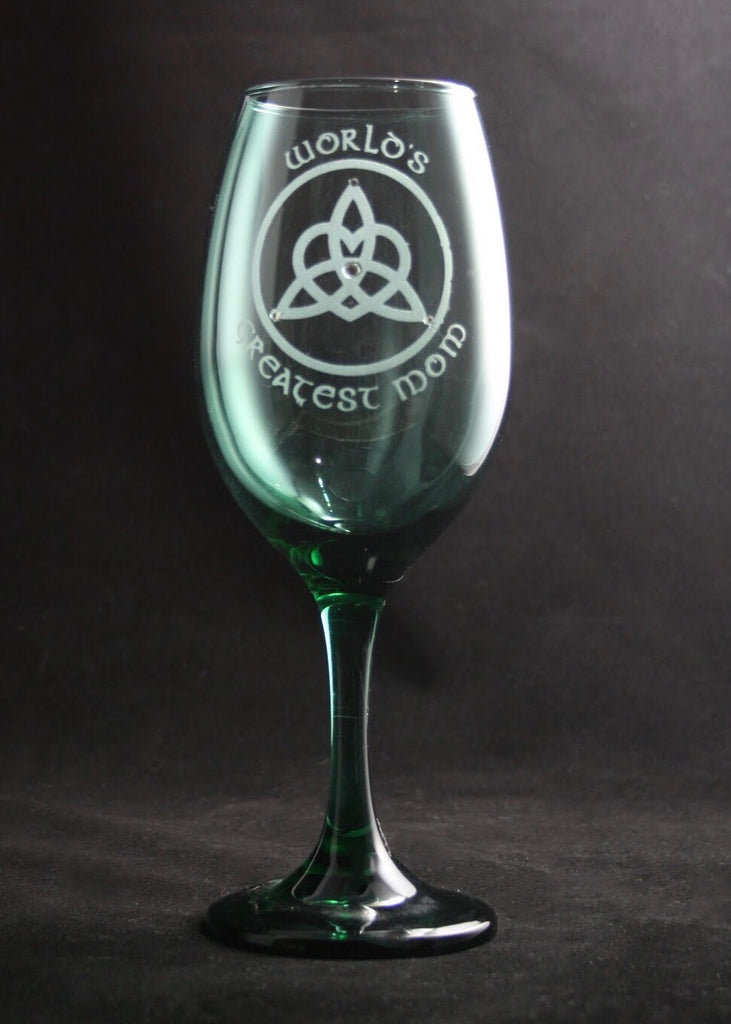 World's Greatest Mom Wine Glass
