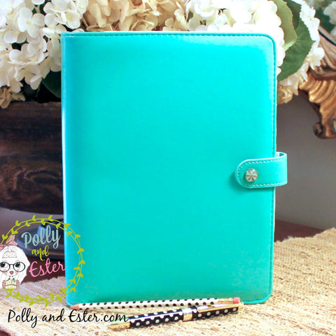 Personal Size Notebook Binder, Aqua Teal