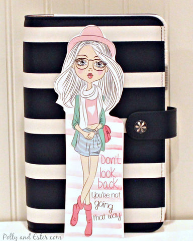 Bookmark, Planner Girl Bookmark with Quote, Use with Erin Condren Planner, Happy Planner, Carpe Diem and Glam Planner