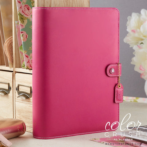 A5 Binder, Fuchsia Planner Notebook, Webster's Pages Color Crush