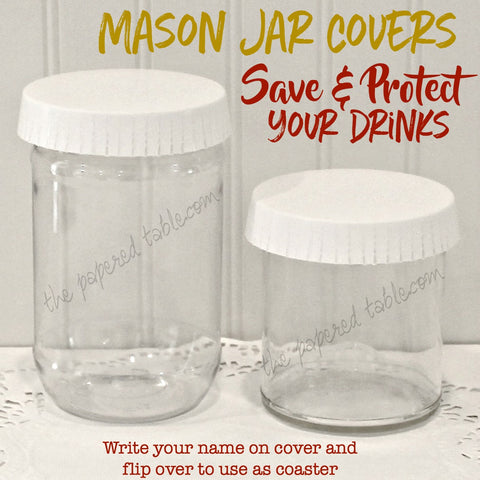 Mason Jar Covers, Hotel Cup Covers, Hotel Glass Covers