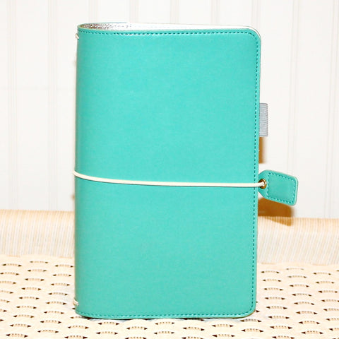 Travelers Notebook, Aqua Teal Travelers Notebook Cover