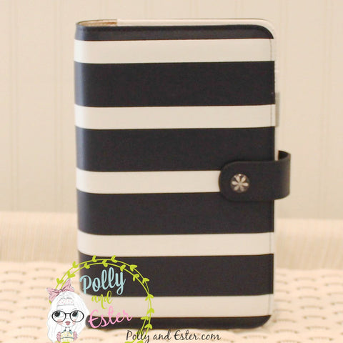 Classic Navy Striped Personal Planner Notebook Binder