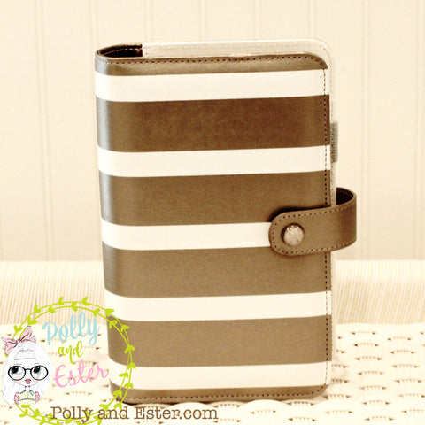 Copper Gold Striped Personal Planner Notebook Binder