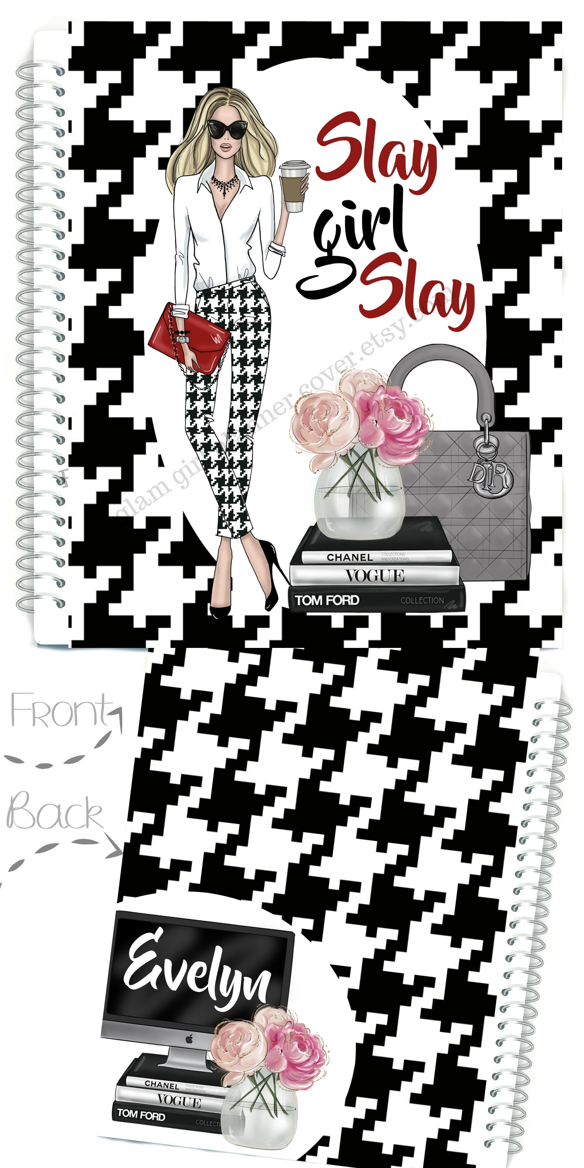Happy Planner Cover Stylish Glam Girl Covers