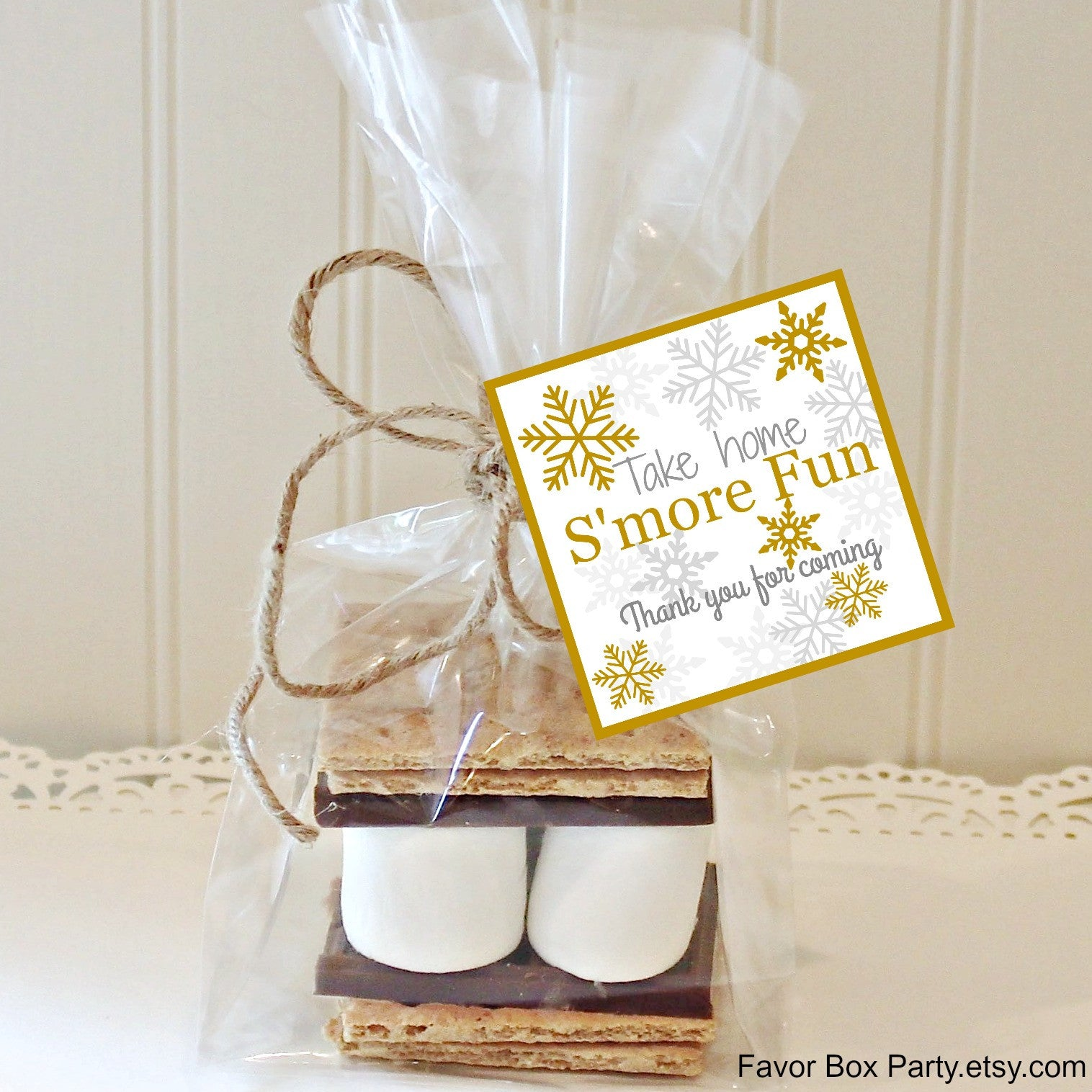 Winter Wedding S\'mores Favors, S\'mores Kit, S\'mores Party Favors ...