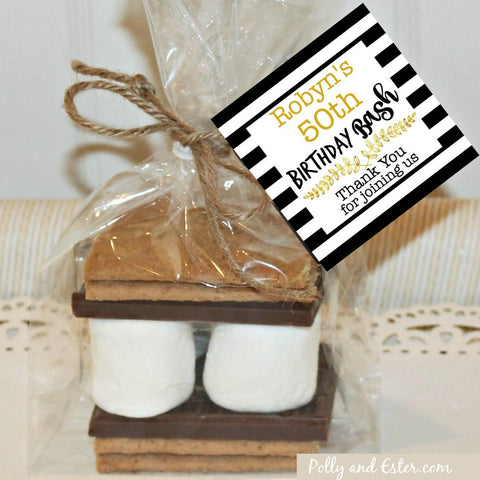 Milestone Birthday Bash S'mores Kit, Holiday Party Favors