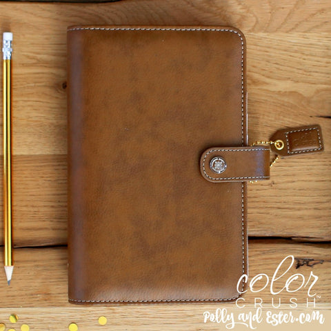 Personal Planner Notebook, Walnut Brown Webster's Pages Color Crush Binder
