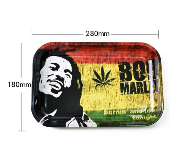 28cm*18cm Rolling Tray Rolling Papers Cigarette Smoke Smoking Accessories Tool Tobacco Storage Plate Discs For Herb Grinder